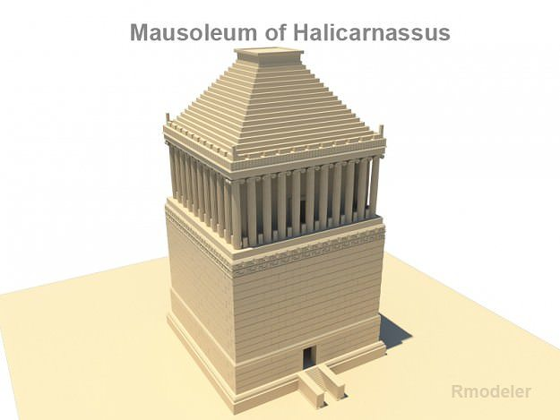 mausoleum of halicarnassus 3d model obj 3ds fbx c4d lwo lw lws ma mb 1