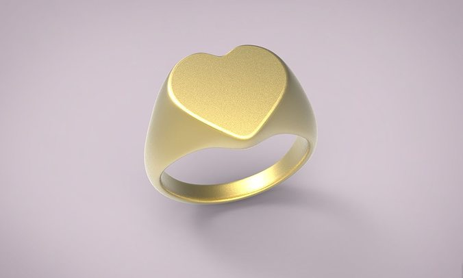 ring heart 7 3d model obj mtl stl 3dm 1
