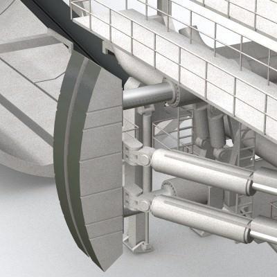 tunnel boring machine tbm 3d model 3ds lwo lw lws 7