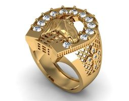 3D print model Ring horse face