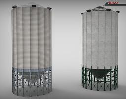3D model Silo Lowpoly