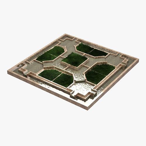inner garden 3d model max 1
