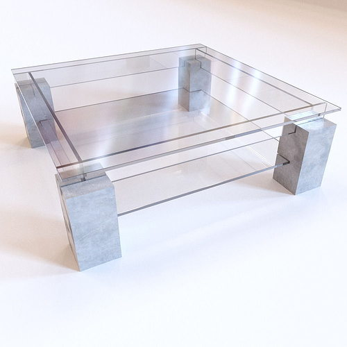 Roche Bobois Tenere Coffee Table 3D asset CGTrader