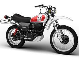 3d model yamaha xt500 1975
