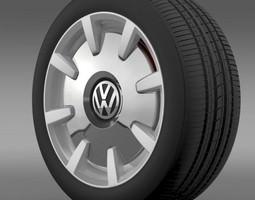 3D model VW Beetle Design 2012 wheel