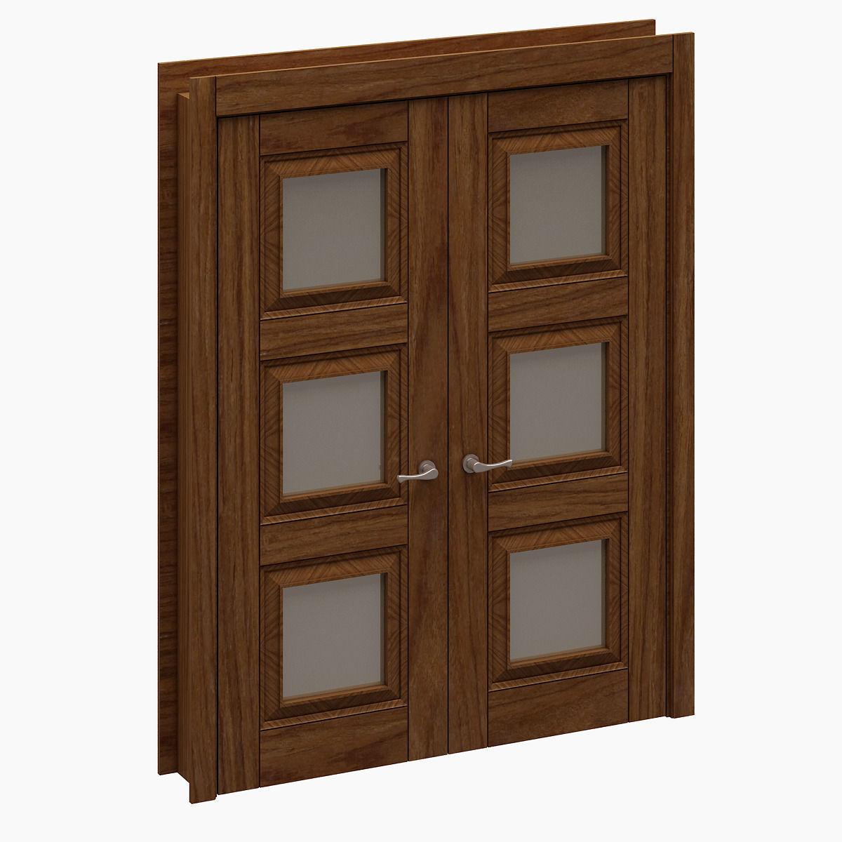 3d model door 002 vr ar low poly max fbx for Door 3d model