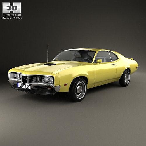 mercury montego coupe 1970 3d model max obj mtl 3ds fbx c4d lwo lw lws 1