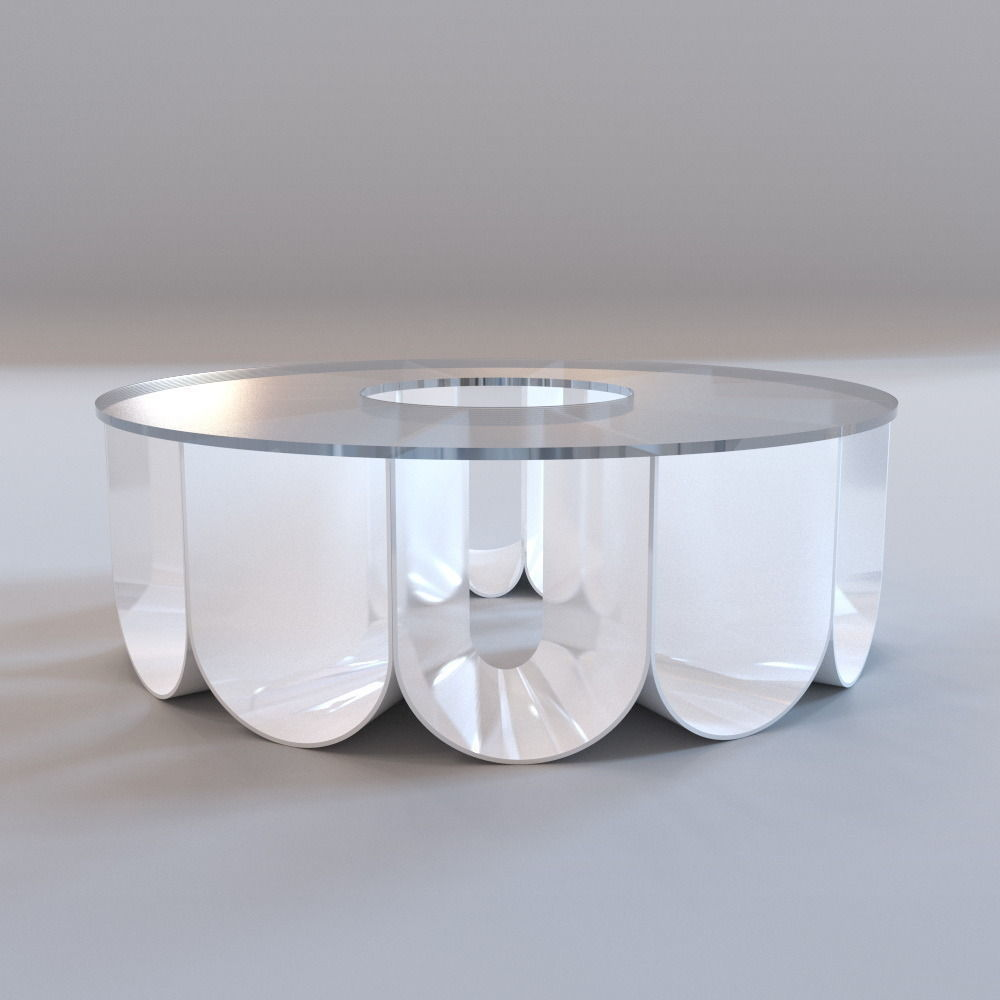 3D model Roche Bobois Iride coffee table CGTrader