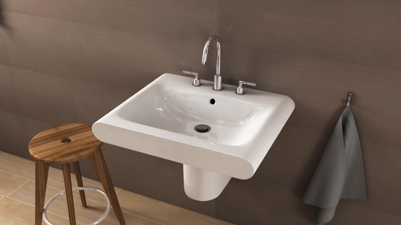 ideal standard moments washbasin 3d model c4d. Black Bedroom Furniture Sets. Home Design Ideas