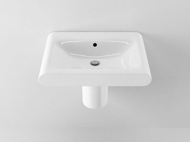 ideal standard moments washbasin 3d cgtrader. Black Bedroom Furniture Sets. Home Design Ideas