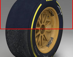 3d asset 18 inches soft front tyre VR / AR ready