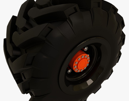 tractor and offroad truck tire 3d model obj fbx blend