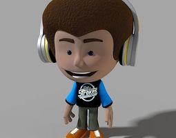 Cartoon Character Dancer 3D Model