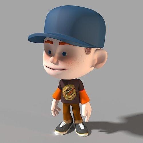 Cartoon Characters 3d Model : D model cartoon character casual boy cgtrader