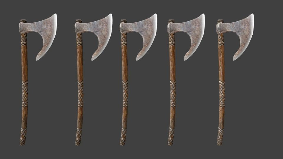 Celtic Weapons 3D Model 3DS