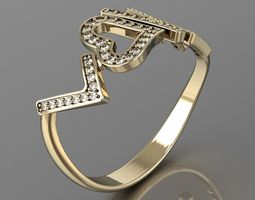 love is all u need ring 3d print model