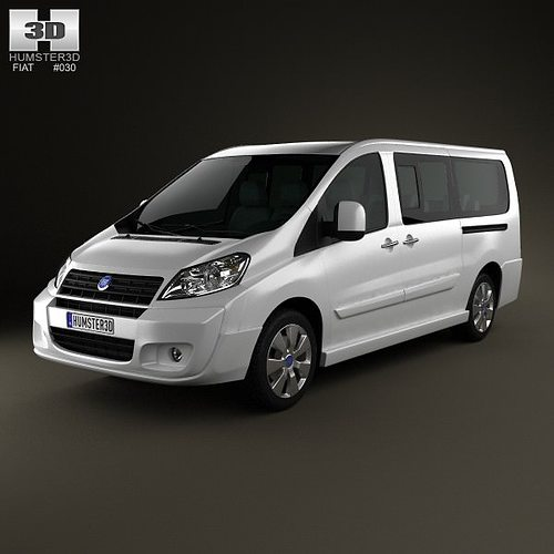 fiat scudo combi l2h1 2011 3d model cgtrader. Black Bedroom Furniture Sets. Home Design Ideas