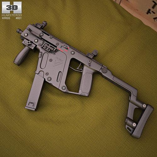 3d Gun Image 3d Home Architect: Submachine KRISS Vector SMG 3D
