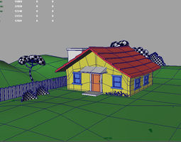 cat House 3D model