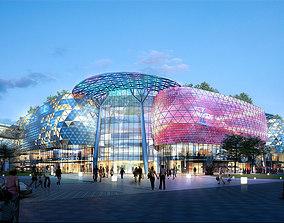 City Shopping Mall traffic 3D