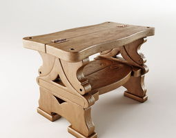 step-ladder and bench 3d