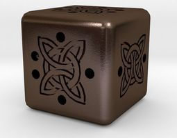 keychains 3D printable model Dice
