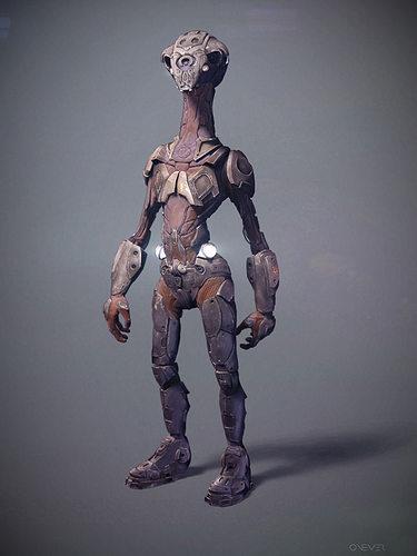 robot scout 3d model obj 1