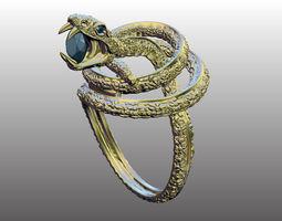 3d print model ring snake 2