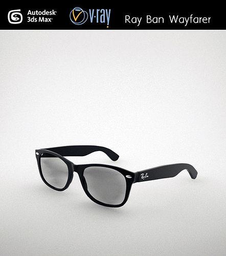 ray ban wayfarer 3d model max obj mtl fbx stl unitypackage prefab 1