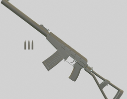 AS-VAL with bullets 3D Model