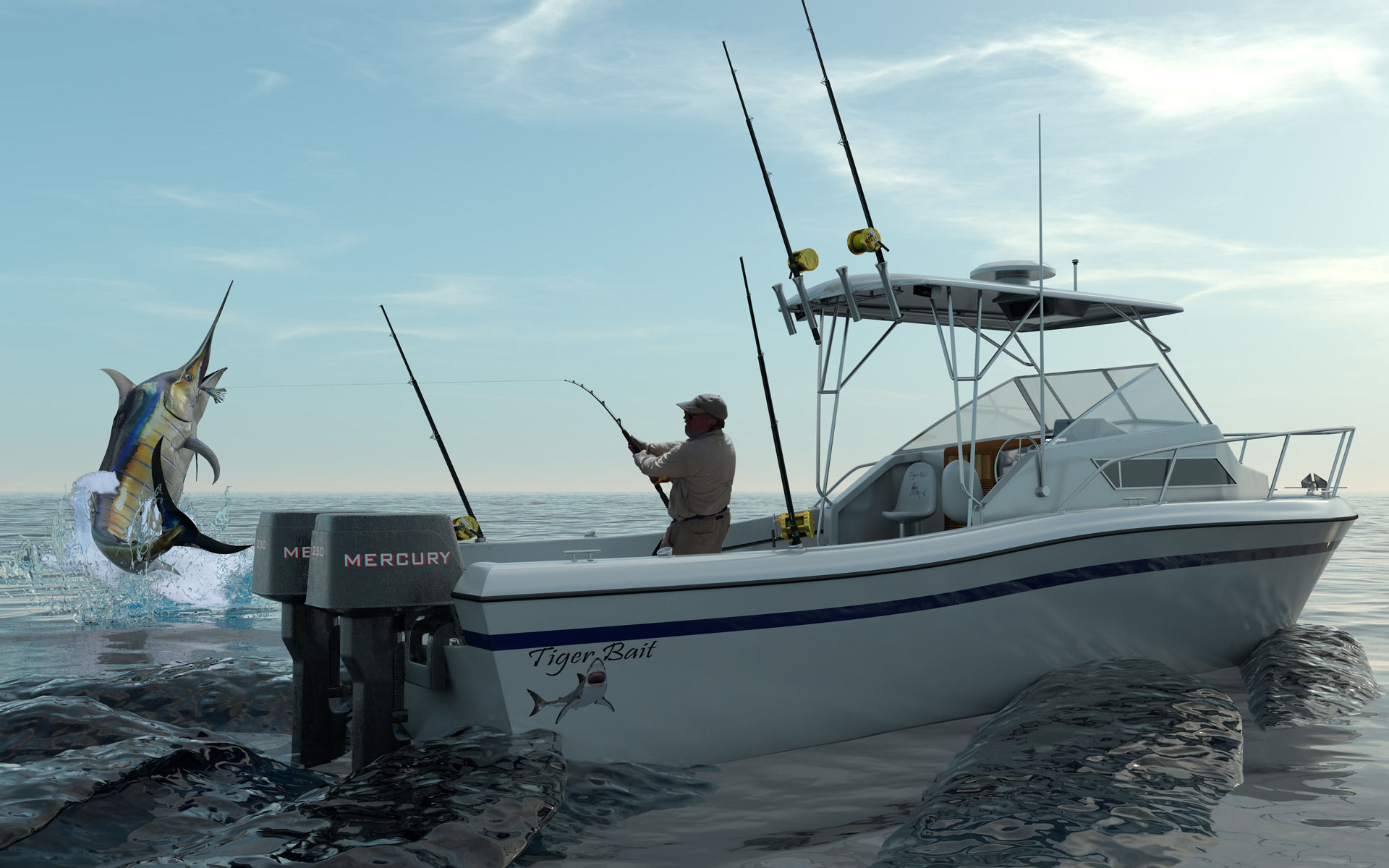 Grady White Sport Fishing Boat 3d Model