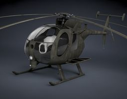 mh-6 little bird soar transport 3d model max obj fbx c4d skp