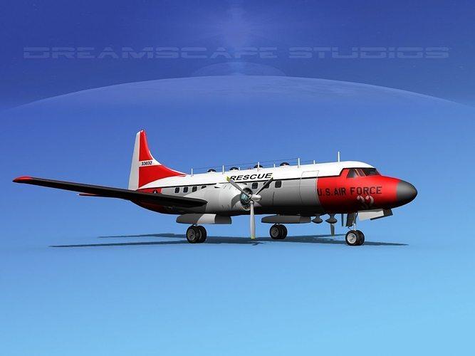 convair t-29 usaf v02 3d model max obj mtl 3ds lwo lw lws dxf stl 1