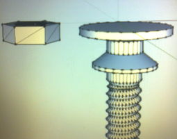 3D print model drawer knob FB