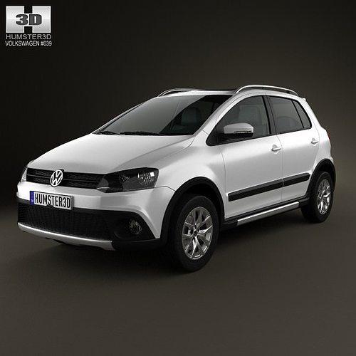 Suv Volkswagen: 3D Model Volkswagen CrossFox 2012