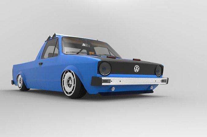 3d Volkswagen Caddy Mk1 Cgtrader