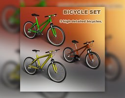 Bicycle set 3D model