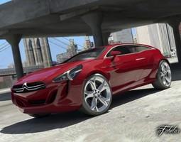 Citroen GQ Concept 2 0 3D