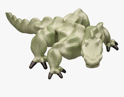 3d model low-poly monster 01 3 rigged