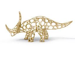 game-ready 3d model styracosaurus voronoi wireframe
