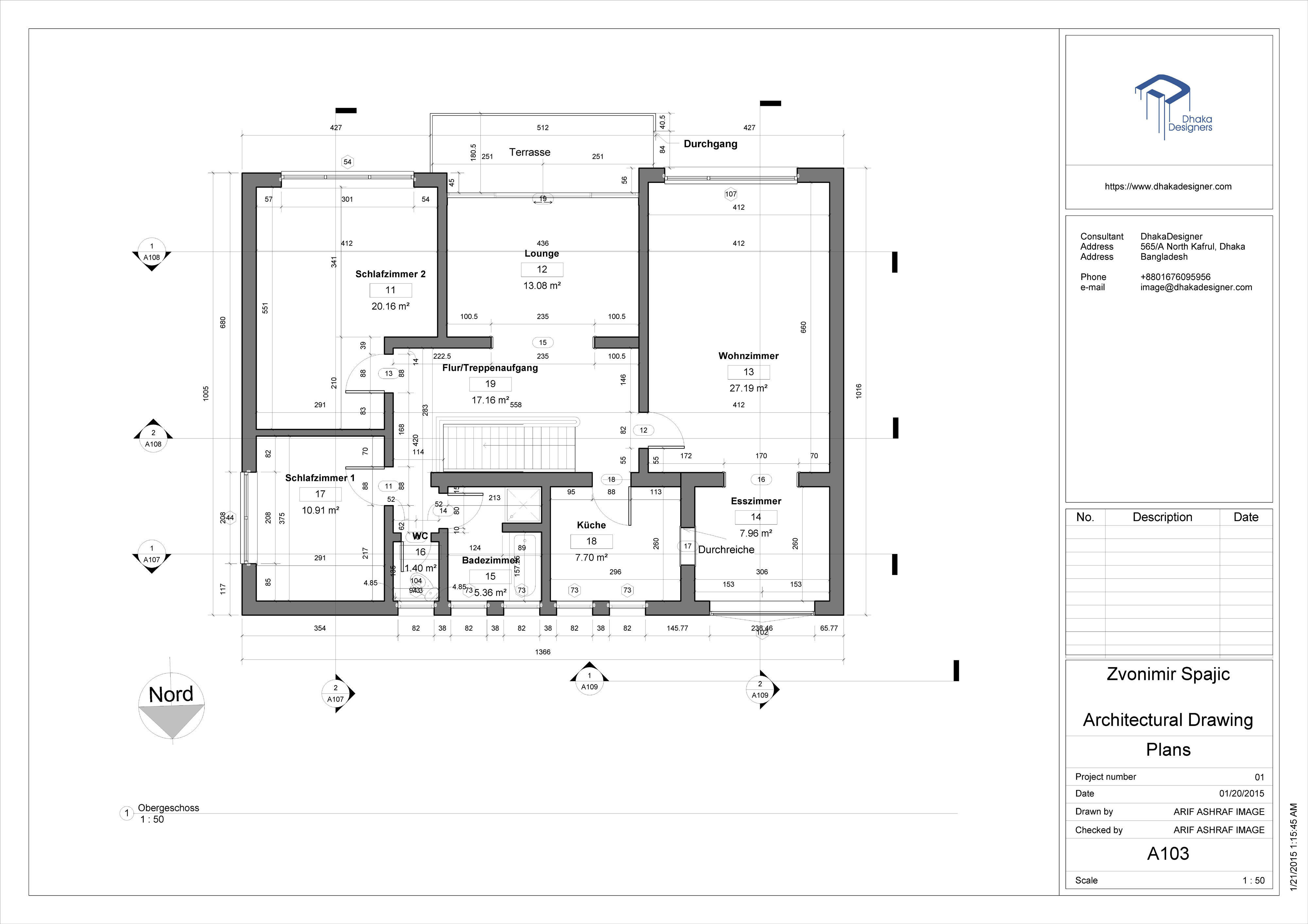 ... Architectural Drawing In Revit 3d Model Rvt 4