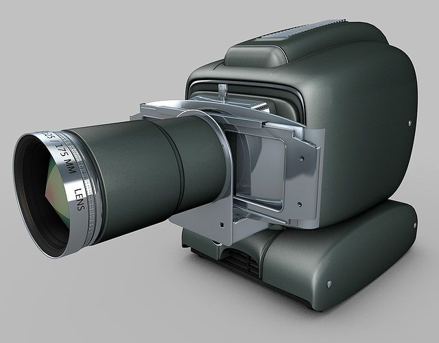 vintage projector 3d model obj mtl 3ds fbx c4d dxf 1