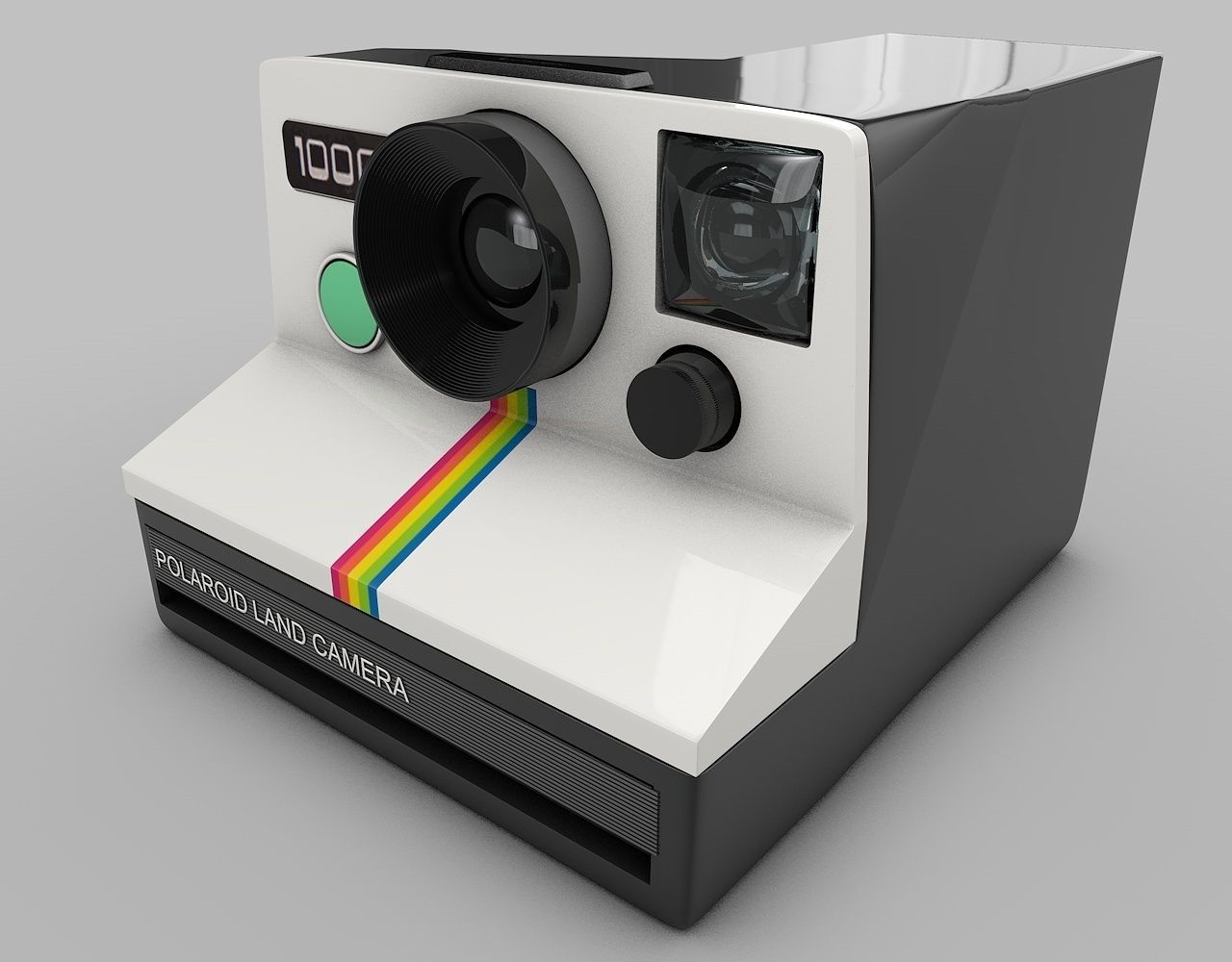 Best Buy Military Discount >> 3D model Vintage Polaroid Camera   CGTrader