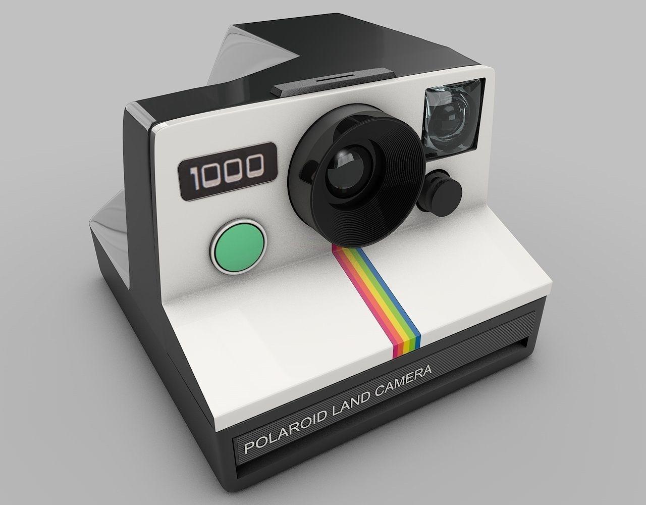 3D model Vintage Polaroid Camera | CGTrader