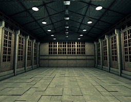 Old Industrial Warehouse 3D model