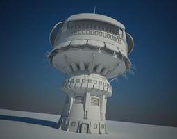 sci fi building 14 3d model animated