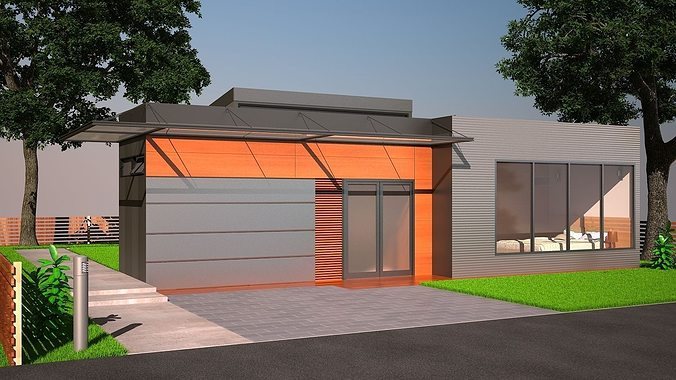 Shipping container home 3d cgtrader - Shipping container home design kit download ...