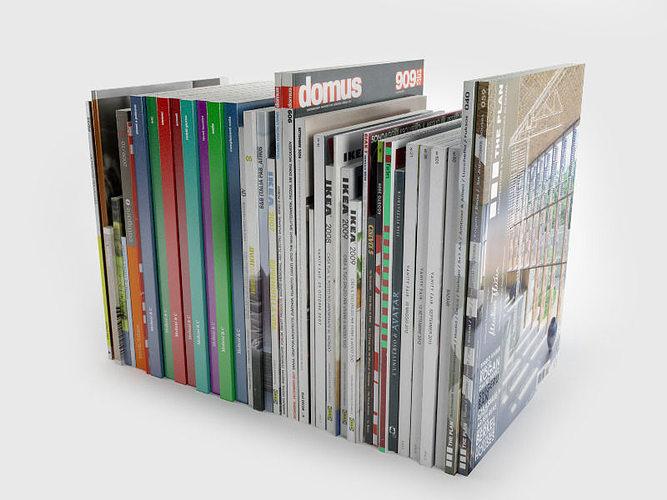 various magazine   3d model c4d 1