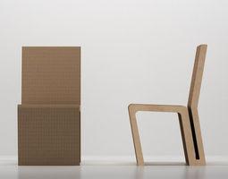 wiggle side chair frank o gehry 1972 2005 free 3d model max obj 3ds fbx stl skp. Black Bedroom Furniture Sets. Home Design Ideas