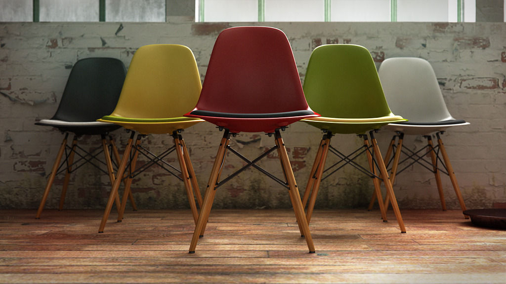3d Vitra Eames Plastic Side Chair Dsw Cgtrader